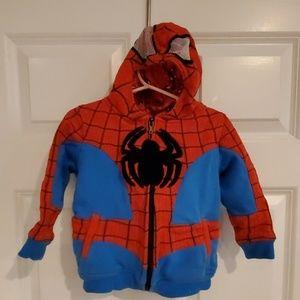 Marvel spiderman hoodie size 2T mesh eyes